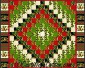 Christmas Eight Trip Quilt ePattern, 2147-24, Christmas wall quilt, pieced Christmas quilt pattern, fat eighth friendly