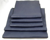 BLUE LEATHER PIECES Reclaimed Scraps Genuine Hide Soft Fine Grain Low Sheen 1275
