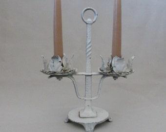 Vintage Iron Candleholder