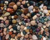 """Gemstones 1lb Tumbled & Polished All Natural 1/2"""" - 1-1/4"""" Size Gemstone Mix Craft Hobby Wire Wrap"""