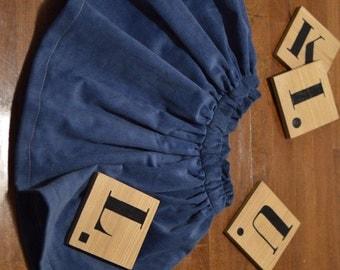 Corduroy gathered skirt