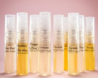 Sample Set of the 11 Limited Edition Valentine Fragrances