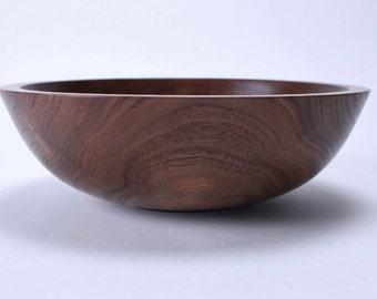 """Black Walnut Wooden Bowl #1490 8 5/8"""" X 2 3/4"""""""