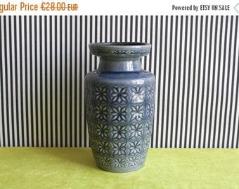 Summersale West German Pottery Scheurich Blue Gray Prisma Vase