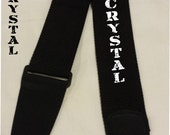 GUITAR STRAP Custom Embroidered Nylon Strap with PERSONALIZED name