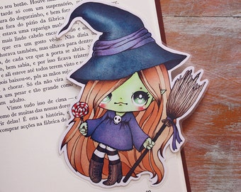Candy witch - bookmark - made to order