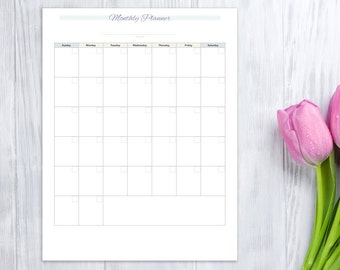 Monthly Planner, printable