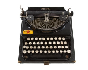 Remington Monarch Typewriter - RARE - Working Order - FREE Domestic Shipping