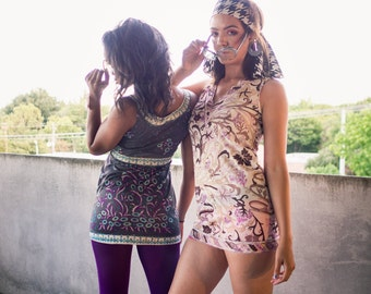 Emilio PUCCI DRESS lot 2 vintage Emilio Pucci dresses // mod pucci dress lot purple paisley print pucci dress and floral print pucci dress s