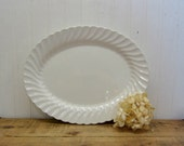 Vintage Johnson Bros Snowhite Regency English White Ironstone Serving Platter