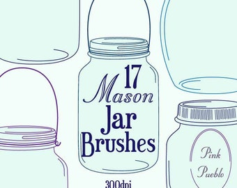 Mason Jars Photoshop Brushes - Commercial and Personal Use