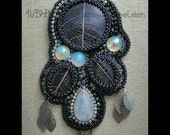 LoveU WINTER SOLITUDE  Bead Embroidered Necklace