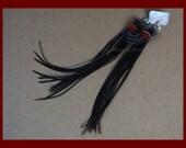 Halloween Earrings Black Orange Long Feather Earring Black Feather Earrings Costume Earrings Boho Earrings Black Costume Earrings