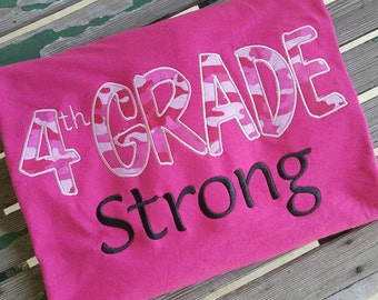 Fourth Grade Strong 4th Grade School Shirt