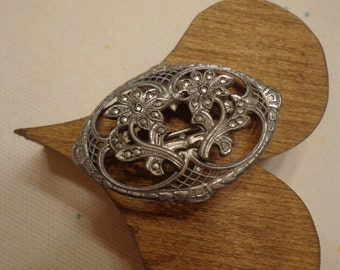Sterling Silver and Marcasite Vintage Brooch