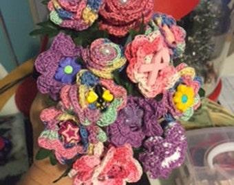 Crochet Flower Pens