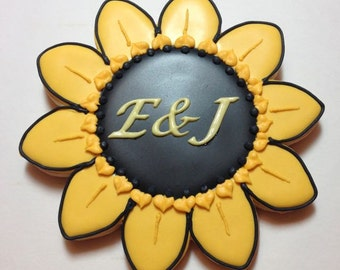 Sunflower Custom Cookies