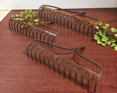 Set of 3 Vintage Rustic Garden Rakes  -rustic garden, rake, garden tool, rake, vintage tool, vintage garden, barware, glass holder, jewelry
