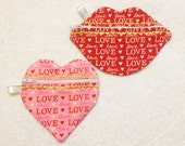 In-The-Hoop ZIP Bags - Heart & Kiss - Machine Applique Embroidery - Instant Digital Download