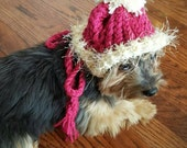 Reserved: Pink and Brown Knit Hat for Dogs