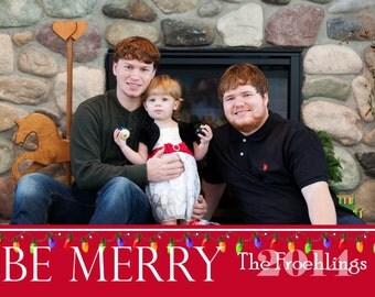 CH 9 - Photo Christmas Card (25 per set)