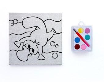 Paint a Playful Platypus ~ Art Party Favor