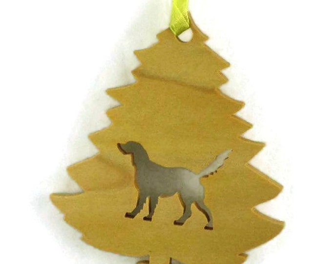 Wooden Golden Retriever Christmas Ornament Handmade From Poplar Wood