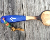 Little trail spoon , blue with AT symbol