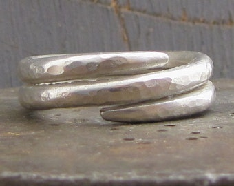 Sterling Silver Ring - Sterling Silver Spiral Ring - Silver Snake Ring