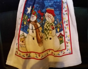 Kitchen towel with matching potholder.
