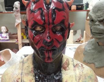 Darth Maul inspired silicone mask