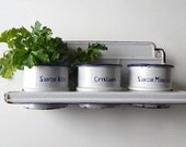 Vintage French Enamelware Holder Laundry Products