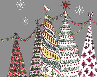 Christmas Tree Cards  - Pack of 10 Christmas Architecture