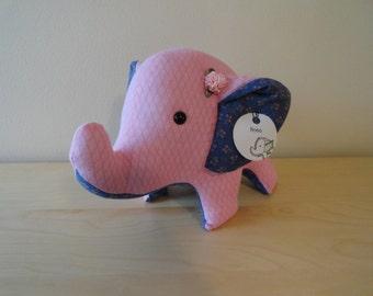 Large Stuffed Elephant- Rosa