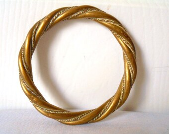 Vintage twisted brass Bangle Bracelet