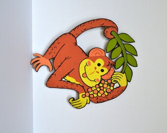 Vintage Monkey Kid's Room Zoo Wall Decor
