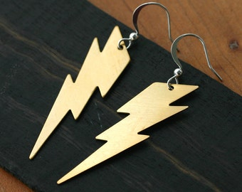 Ziggy Stardust Lightning Bolt Earrings