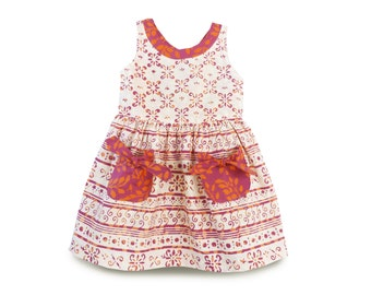 Toddler Pocket Dress, Toddler Dress Batik, Girls Pocket Dress, Birthday Gift Dress, Batik Toddler Dress