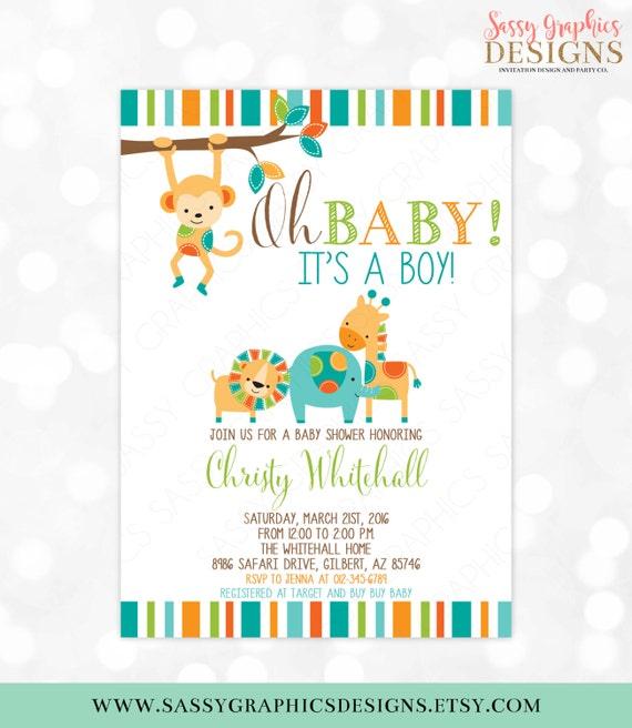 Safari baby shower invitation jungle invitations wild baby shower il570xn filmwisefo