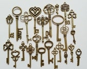 24 Bulk Mix Key Antiqued Bronze B1399(3-3)
