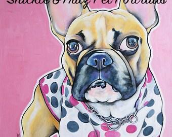 Pet Portraits 24x24x1.5 Canvas Custom Painted from your photographs Dog Art Dog Portrait Painting Pop Art Pet