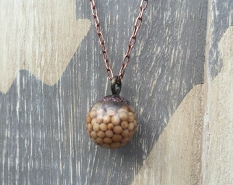 Petite Mustard Seed Necklace on Anyique Copper Chain