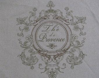 French Laundry script crest pillow cover 18x18, 20x20, 22x22, 24x24, 12x16, 14x24