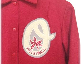 Vintage the OHIO STATE University Athletics Volleyball Varsity Jacket