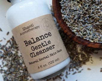 Balance Gentle Cleanser - Milk Cleanser - Dry Skin - Red Irritated Skin - Natural Herbal Skin Care