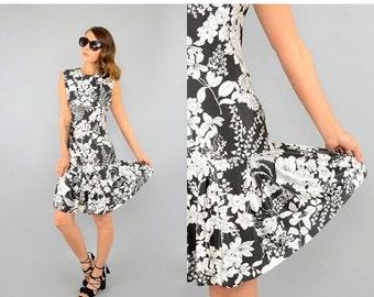 SUMMER SALE 1960's Drop Waist DRESS