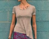 Asymmetrical Short Sleeve Top