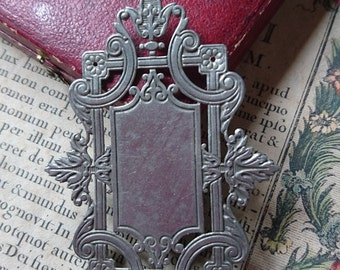 Delicieux antique French jewellers plaque for jewellery box  writing box etc  c1880  ATTIC FIND   Belle Brocante