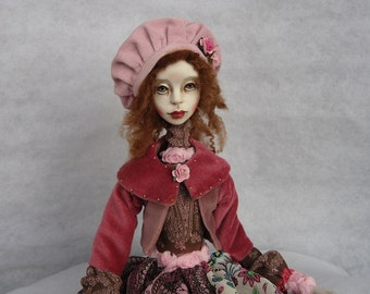 Silva Art doll OOAK doll Human figure doll Collecting doll Air dry clay doll Hand made doll