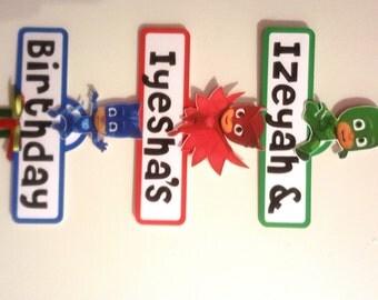 PJ Masks Party Sign
